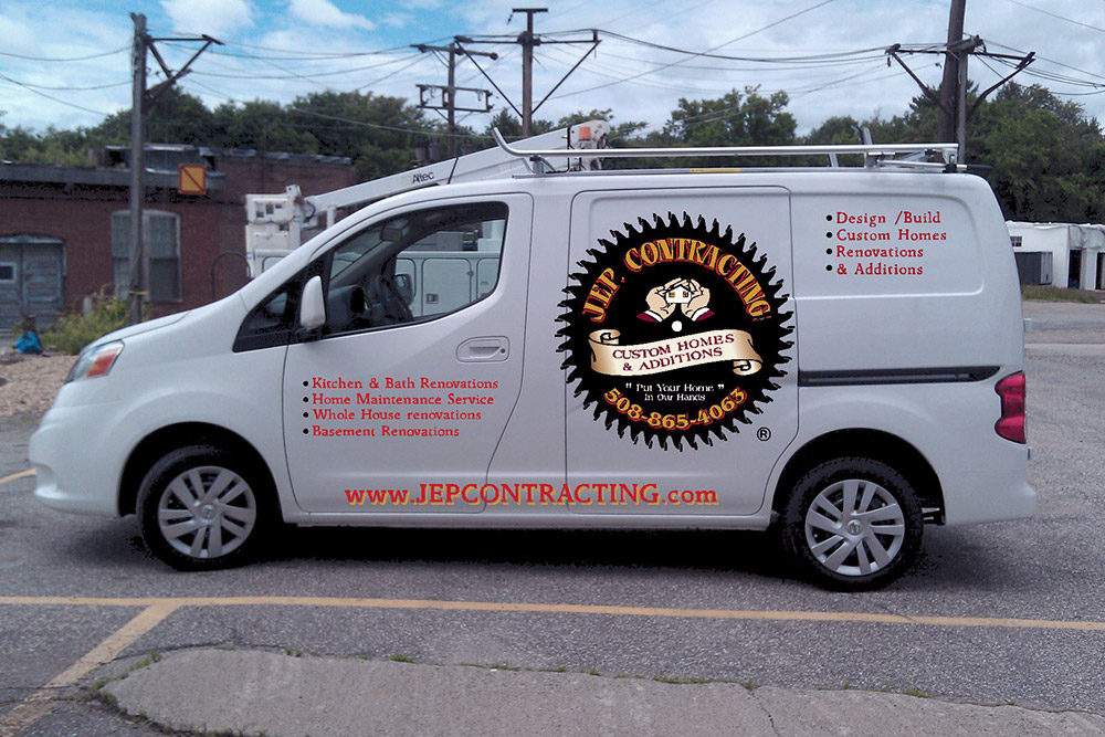 JEP Contracting van